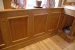 oak wall paneling