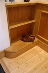 fitted oak shoe rack